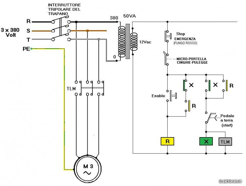 Schema Collegamento Motore Trifase A Due Velocita : Schema elettrico gruppo elettrogeno trifase montare