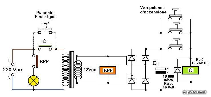 Schema Collegamento Campanello 12v : Trasformatore v campanello apriporta a risparmio