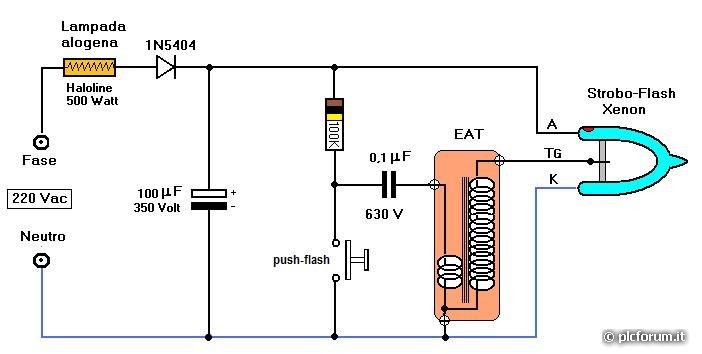 Schema Elettrico Per Lampada : Bowens mono silver apparati schemi circuiti plc forum
