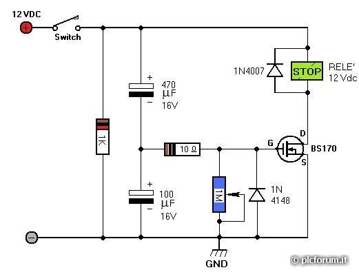 Schema Elettrico Timer Per Bromografo : Schema circuito temporizzatore fare di una mosca