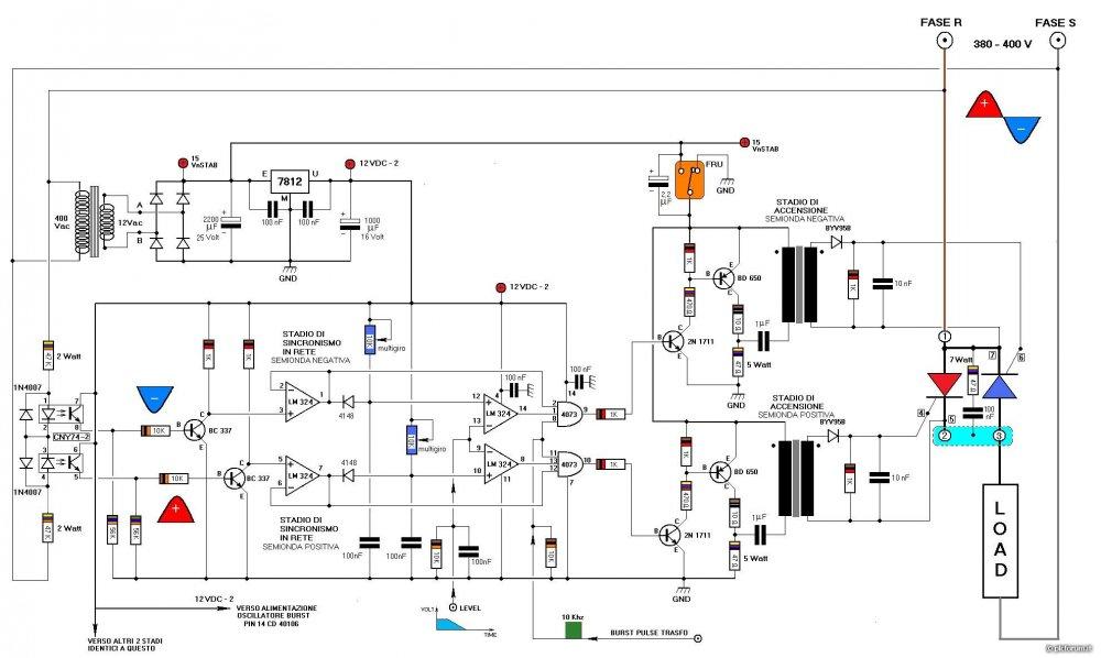 Schema Elettrico Racchetta Per Zanzare : Soft starter autocostruito da mirko ceronti apparati