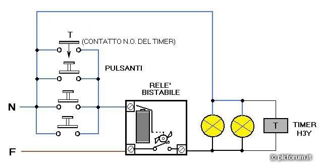 Schema Elettrico E Meccanico Scale Mobili : Sostituzione rele luci scala con temporizzatore altro su
