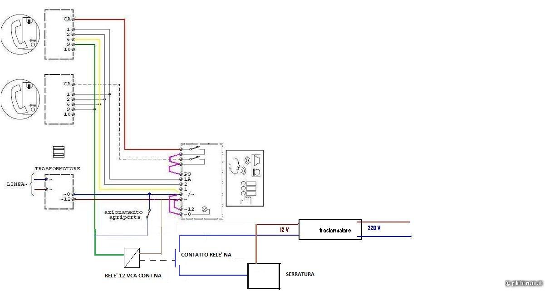 Schema Elettrico Per Citofono : Come faccio a far aprire una serratura elettrica