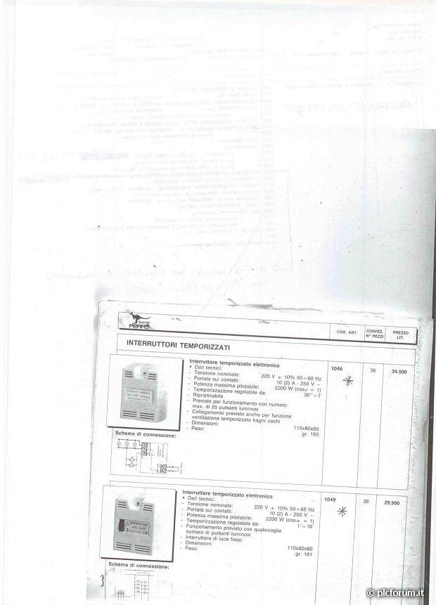 Schema Collegamento Orologio Perry : Interruttore scale perry come va collegato installazione